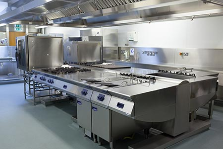 air conditioned ventilated commercial kitchen