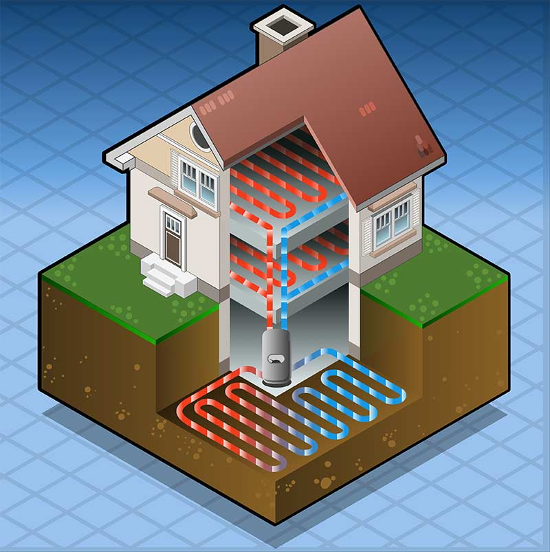 Ground Source Heat Pump Heating Homes Efficiently